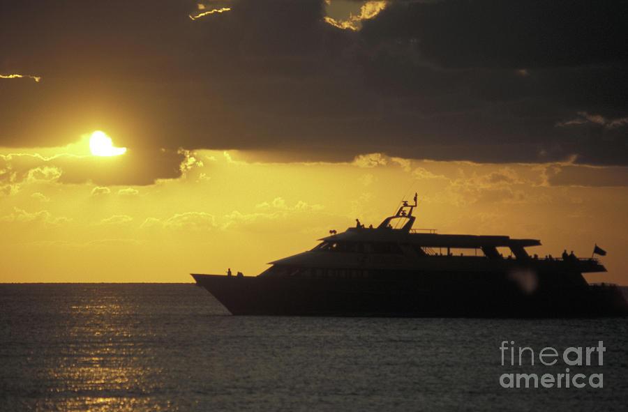 Mexico Photograph - Sailing Into The Sun Cozumel Mexico by John  Mitchell