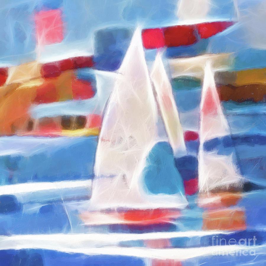 Sailing Joy Digital Art - Sailing Joy Digital by Lutz Baar