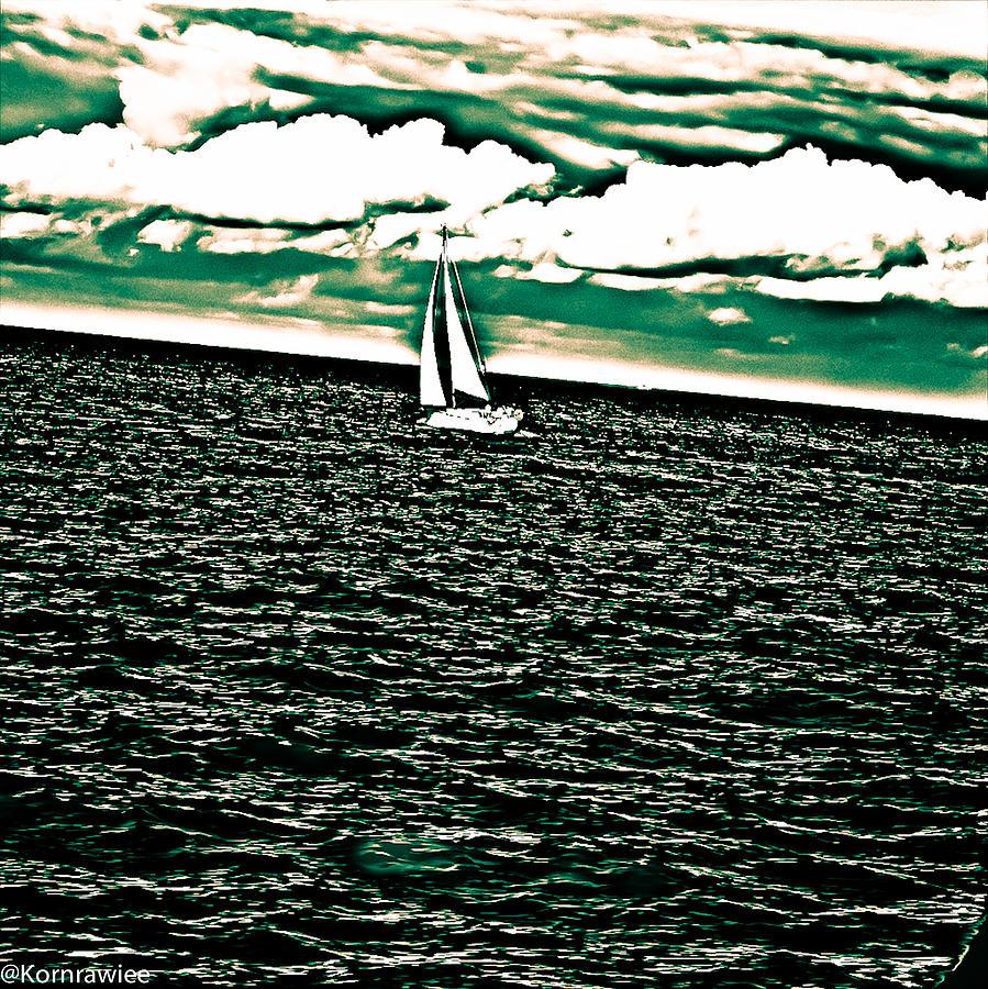 Sydney Photograph - Sailing by Kornrawiee Miu Miu