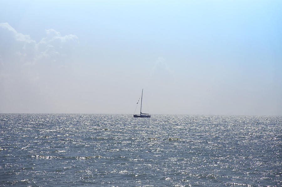 Sail Photograph - Sailing On by Bill Cannon