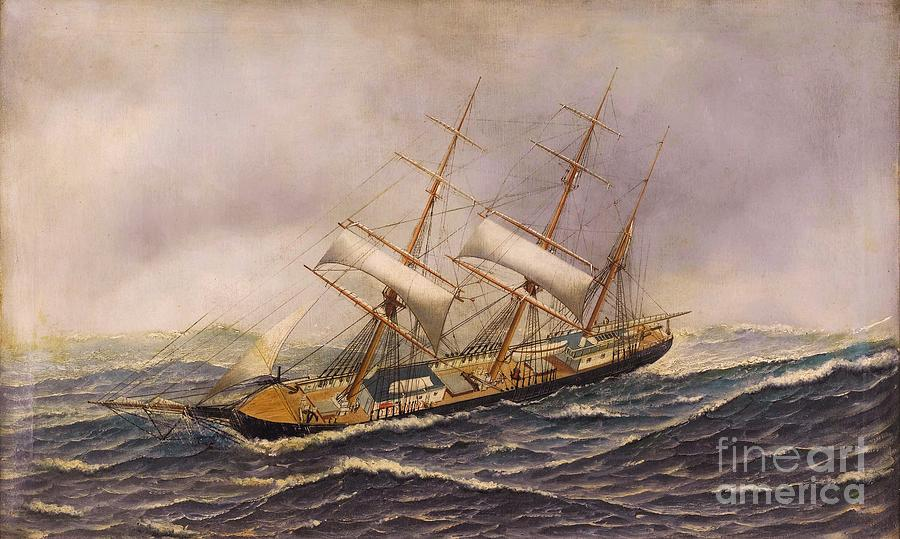 Pd Painting - Sailing Ship - Saint Mary by Pg Reproductions