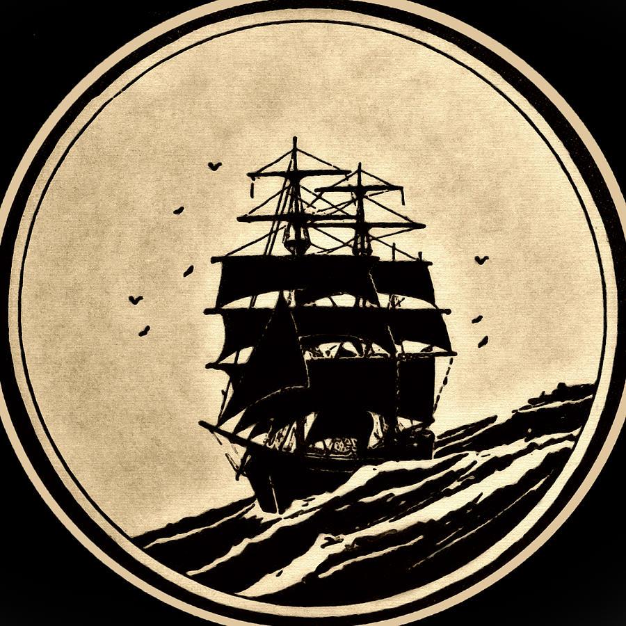 Ancient Photograph - Sailing Vessel by Susan Leggett