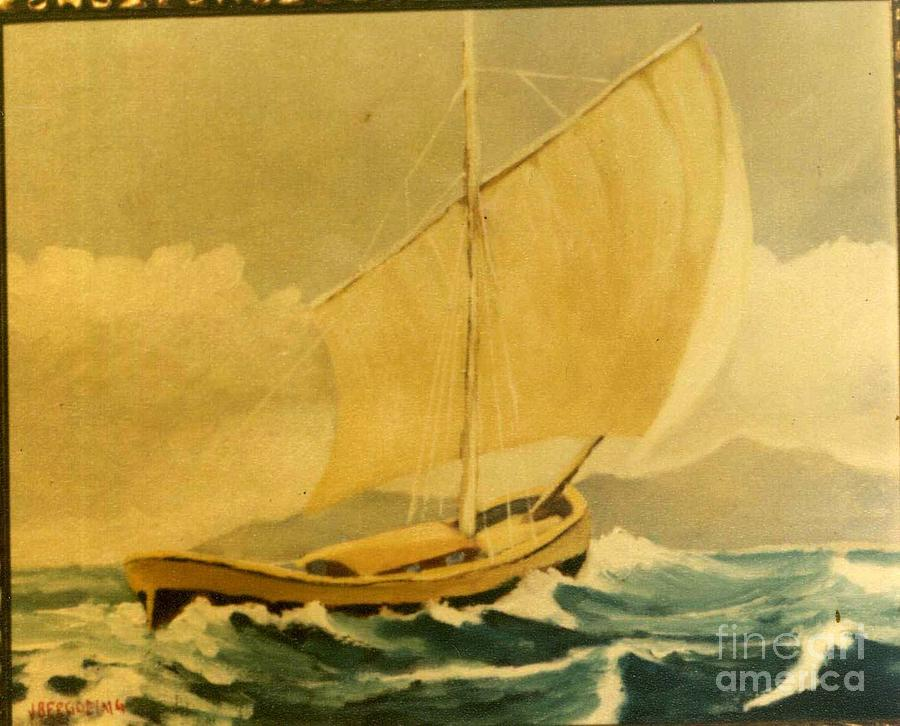 Sea Painting - Sailling Boat by Jean Pierre Bergoeing