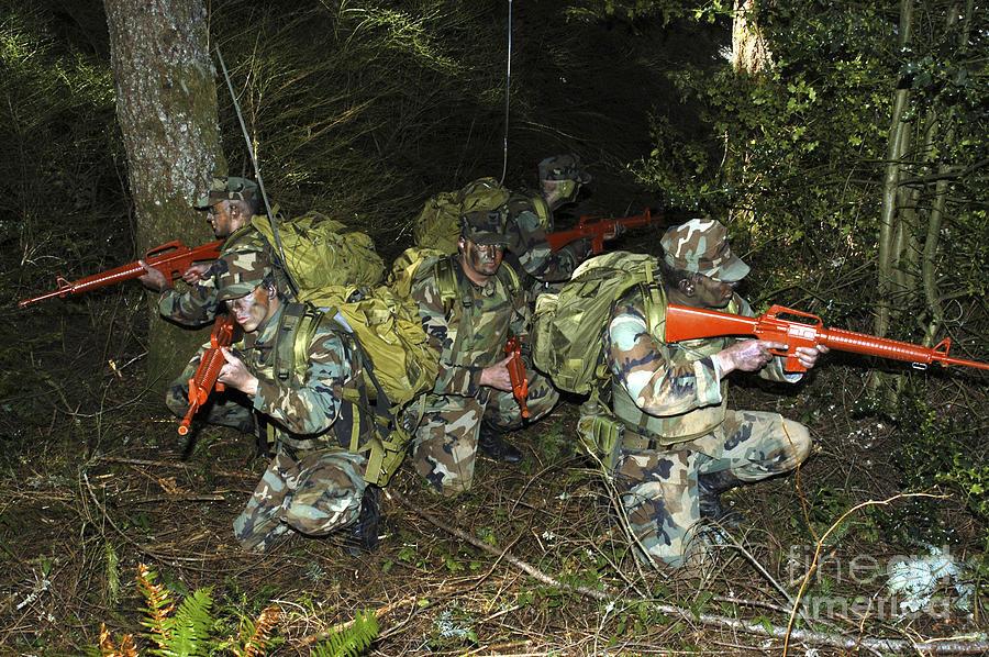 Horizontal Photograph - Sailors Take Part In Combat Training by Stocktrek Images