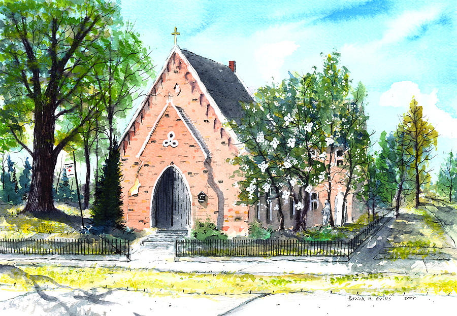 Saint Andrew Painting - Saint Andrews Episcopal Church by Patrick Grills