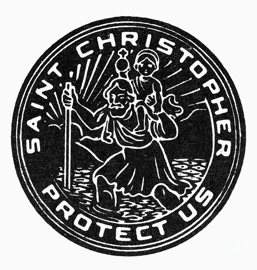 Christianity Photograph - Saint Christopher Medal by Granger