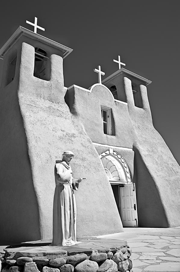 Ansel Adams Photograph - Saint Francisco De Asis Mission by Melany Sarafis
