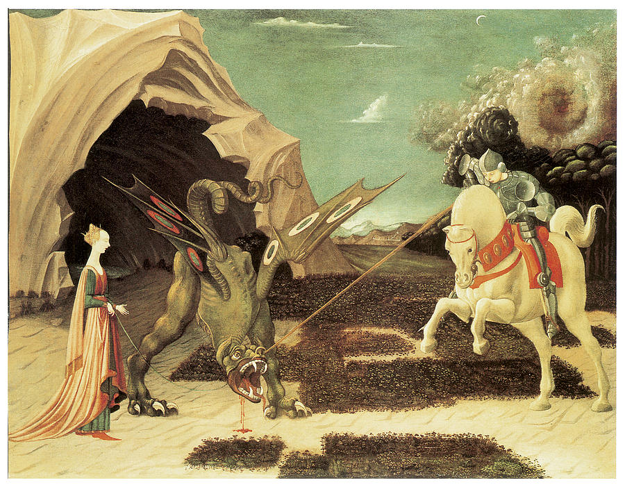 Paolo Uccello Painting - Saint George And The Dragon by Paolo Uccello