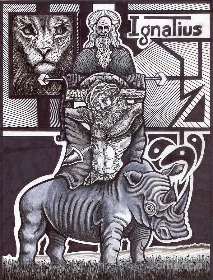 Wildlife Drawing - Saint Ignatius by Peter Olsen