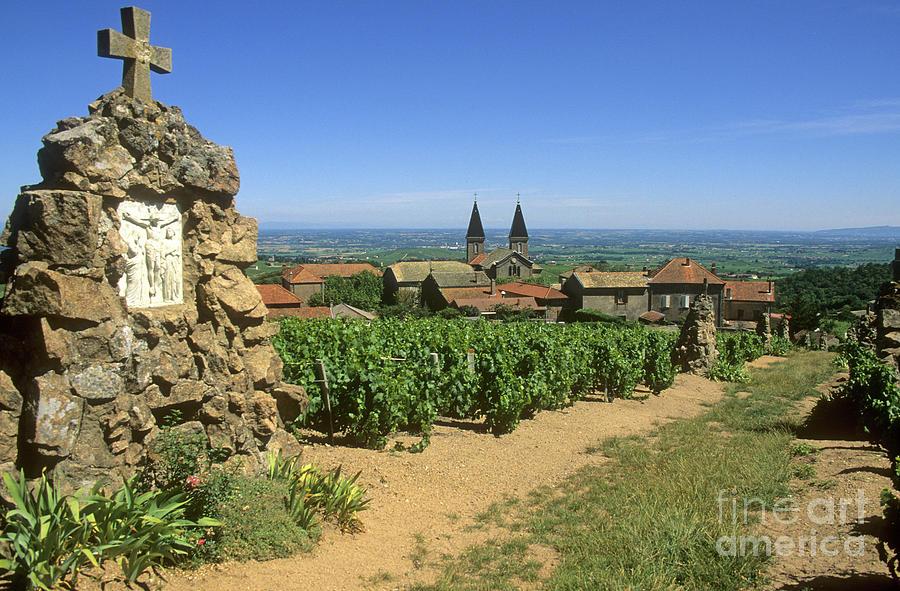Village Photograph - Saint Joseph En Beaujolais. France by Bernard Jaubert