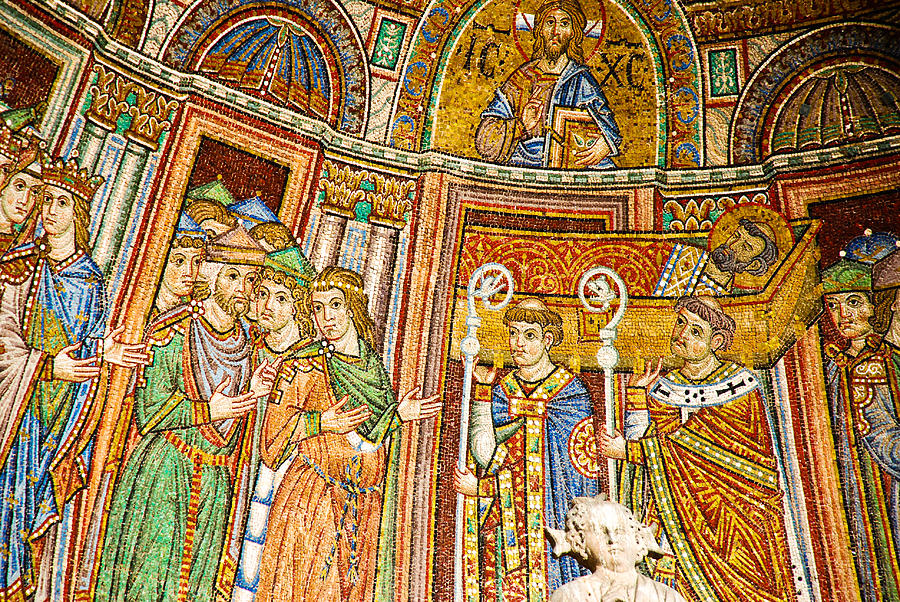 Venice Photograph - Saint Marks Basilica Mosaic by David Waldo