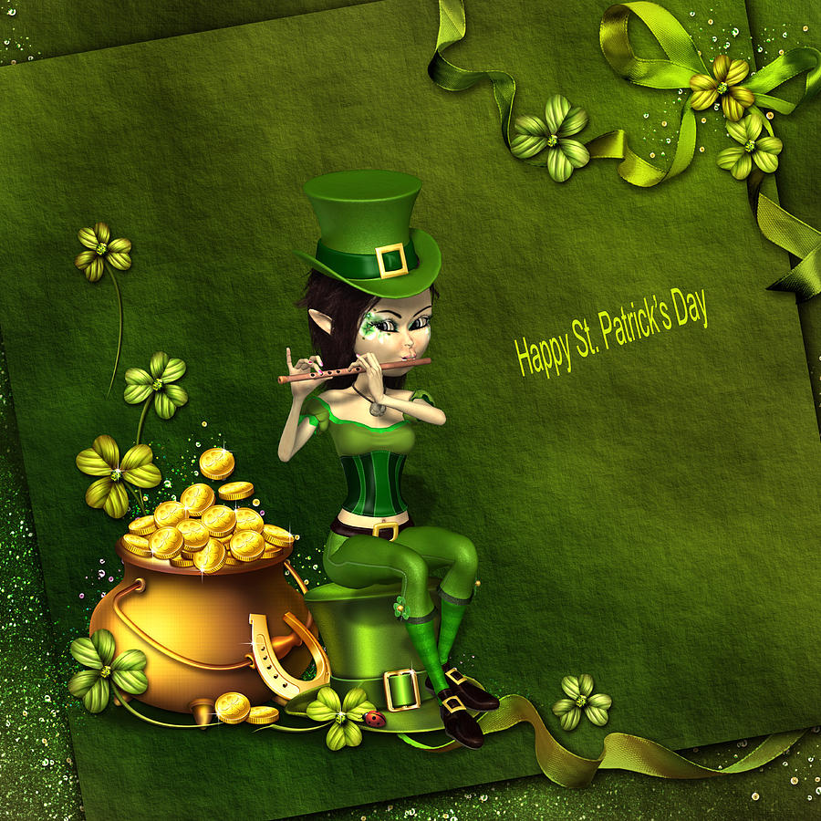 Elf Digital Art - Saint Patricks  Day by John Junek