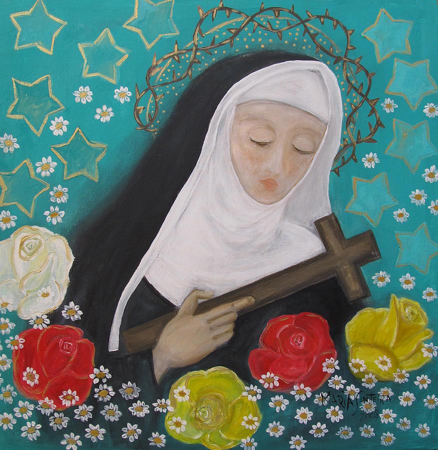 Saint Painting - Saint Rita by Maria Matheus Maria Santeira
