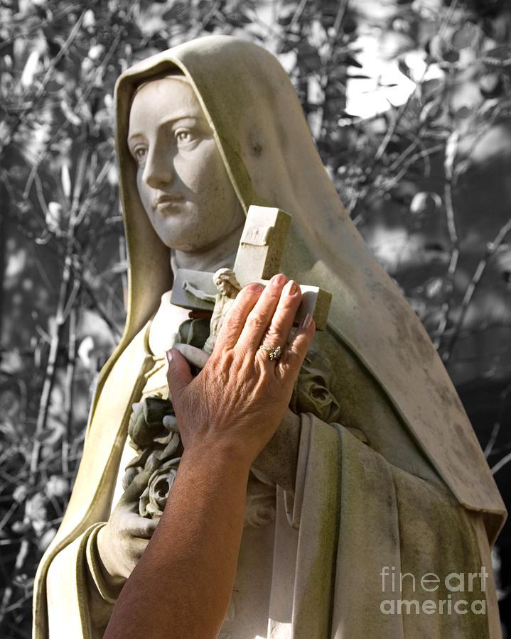 Saint Photograph - Saint Theresa Of The Rose by Pete Klinger