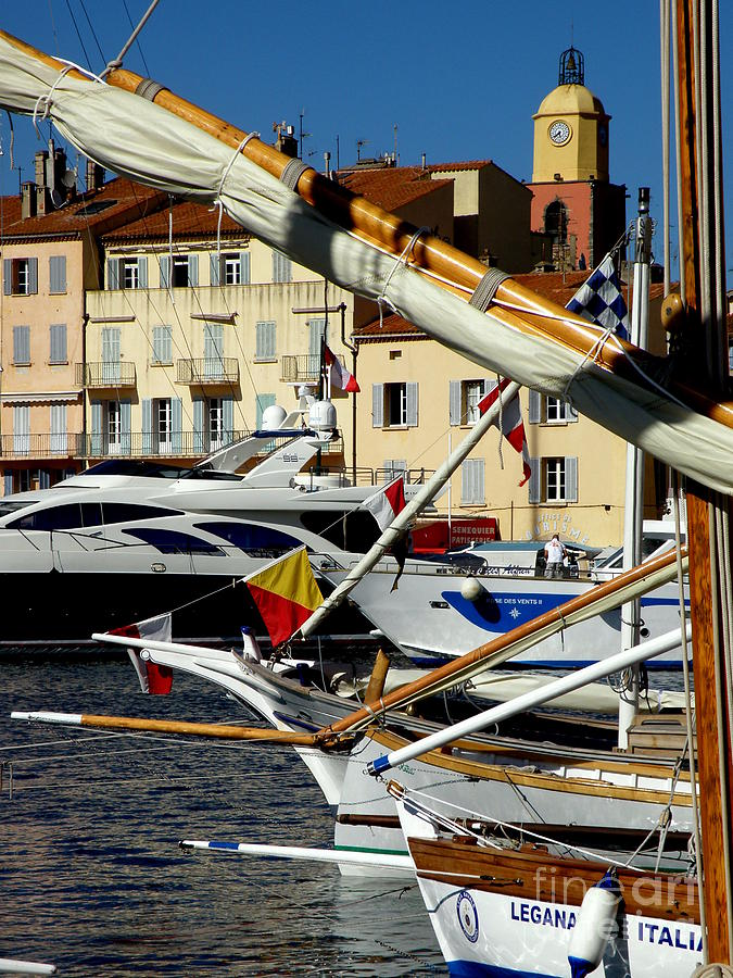 Boats Photograph - Saint Tropez Harbor by Lainie Wrightson