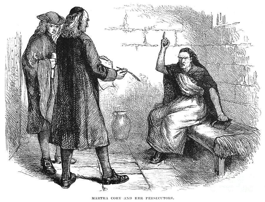 1692 Photograph - Salem Trials: Martha Corey by Granger
