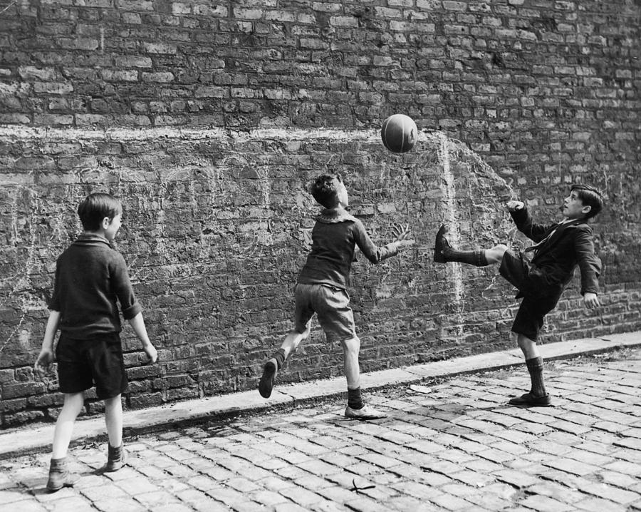 Child Photograph - Salford Soccer by Nick Yapp