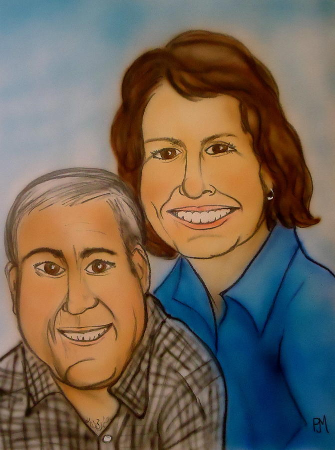 Portrait Painting - Sally And Art by Pete Maier