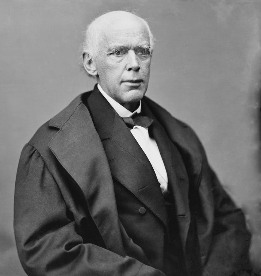 History Photograph - Salmon P. Chase 1808-1873, As Chief by Everett
