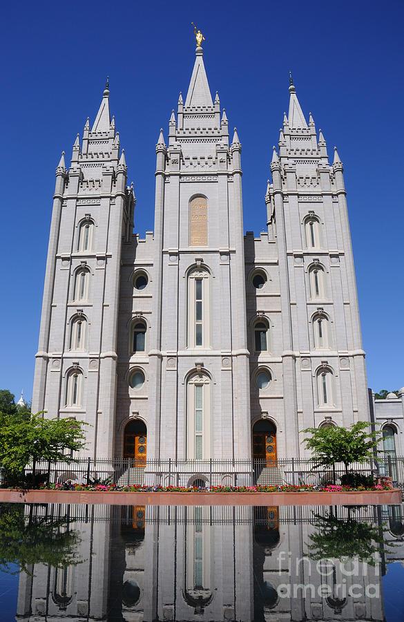 Angel Photograph - Salt Lake Mormon Temple by Gary Whitton