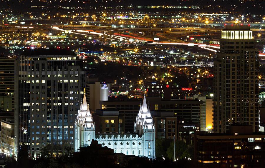 Horizontal Photograph - Salt Lake Temple by Photo by Jim Boud