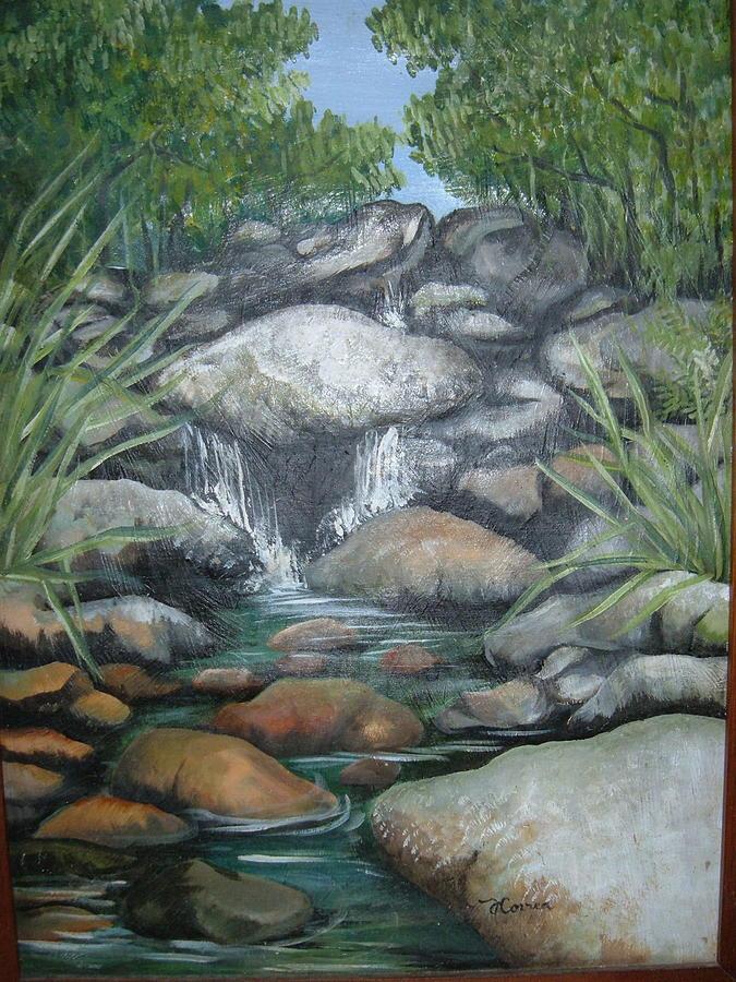 El Yunque Painting - Salto La Coca by Judith Correa