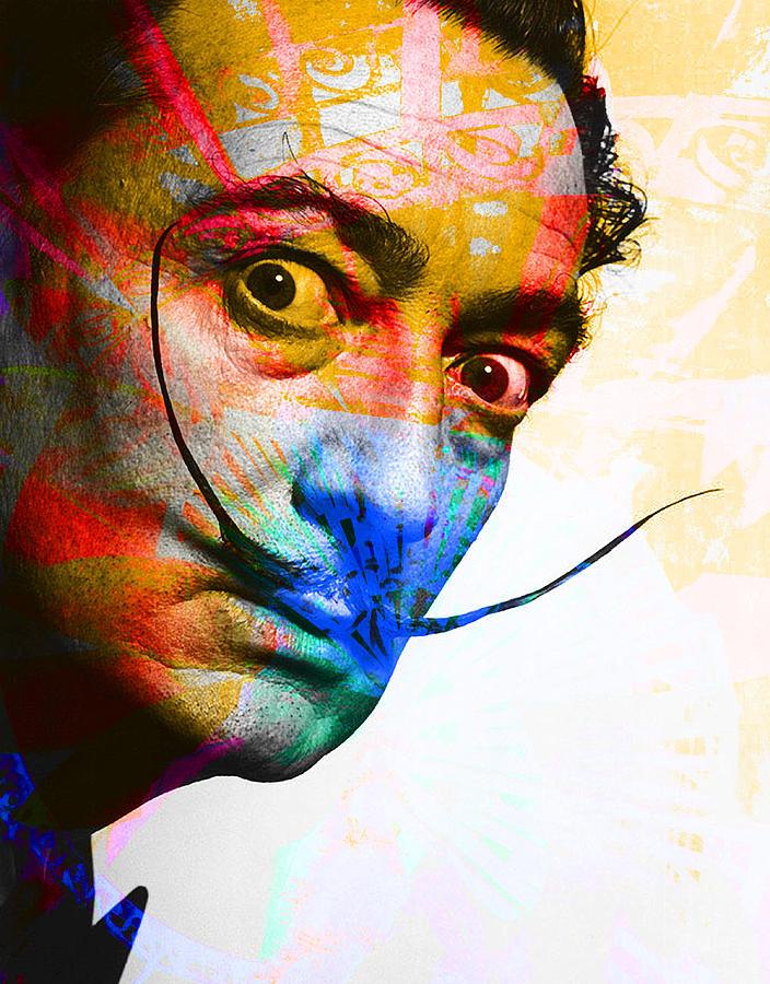 Salvador Dali Digital Art - Salvador Dali by Andrew Osta