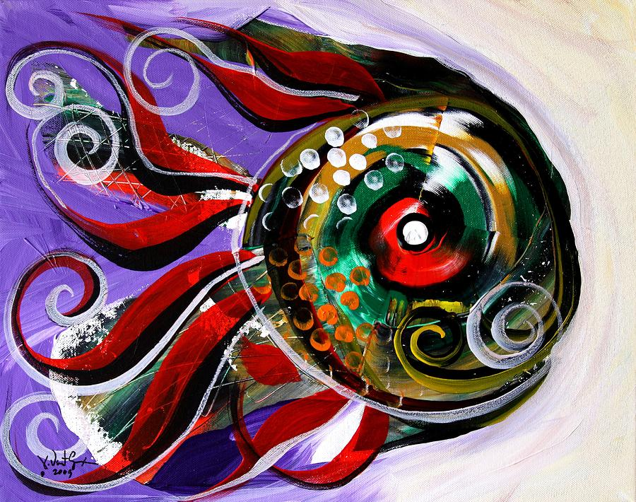Fish Painting - Salvador Dali Octo Fish by J Vincent Scarpace