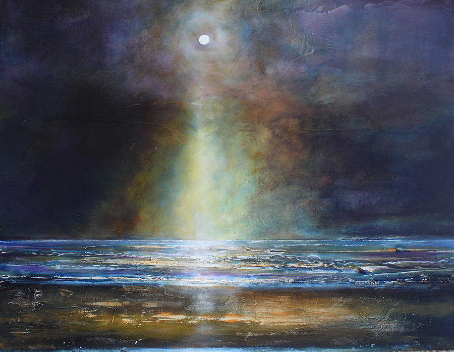 Spiritual Painting - Salvation Beach by Toni Grote