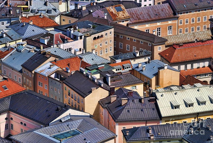Salzburg Photograph - Salzburgs Roofs Austria Europe by Sabine Jacobs