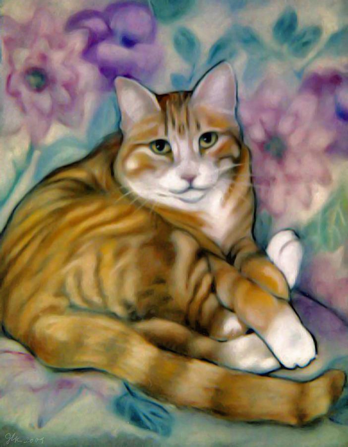 Cat Pastel - SAM by Janet Kearns