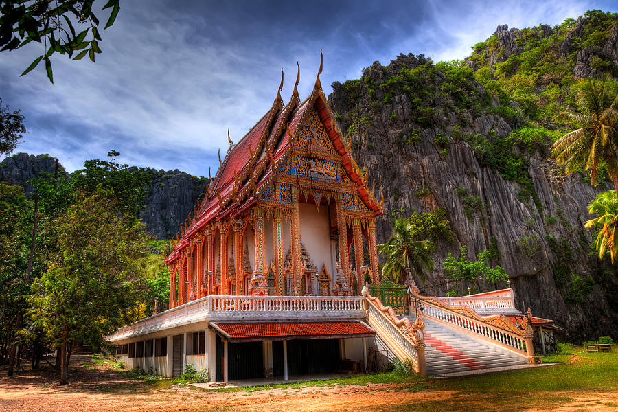 Temple Photograph - Sam Roi Yot Temple by Adrian Evans