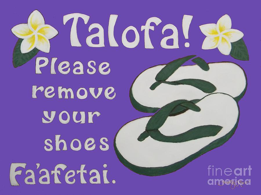 Samoan Welcome Sign Lavender Painting By Kristy Mao