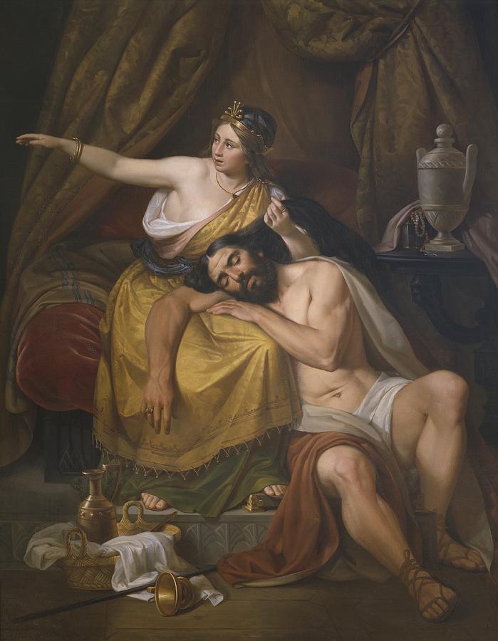 Samson And Delilah Painting By Jose Salome Pina