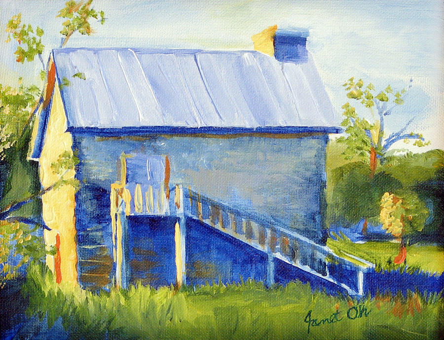 Samson House In Round Rock Painting - Samson House by Janet Oh