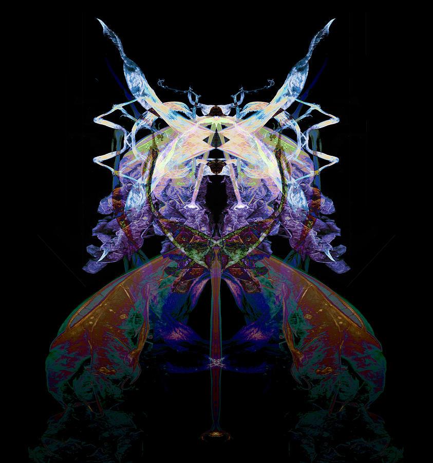 Psychedelic Photograph - Samurai Bug Plant by David Kleinsasser