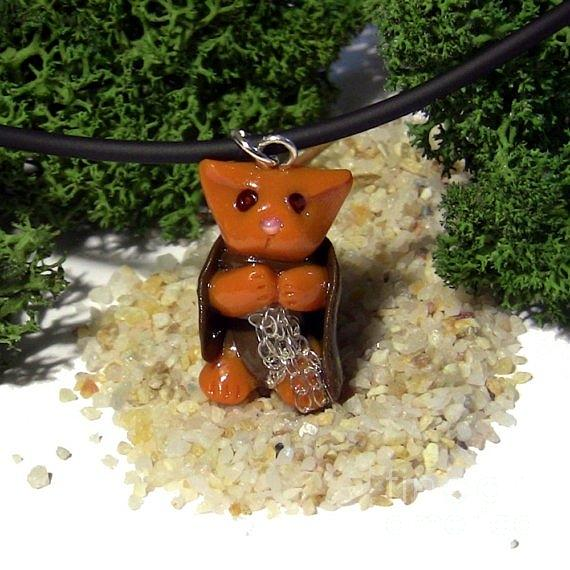 Match Your Pet Jewelry - Samwise Kitty Lord Of The Rings Parody Necklace by Pet Serrano