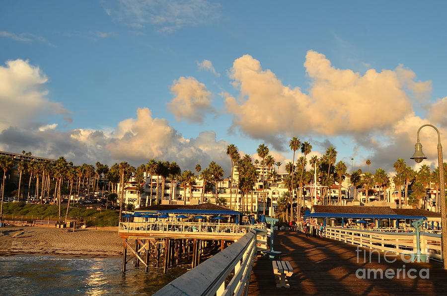 San Clemente Photograph - San Clement Pier And Coast by Timothy OLeary