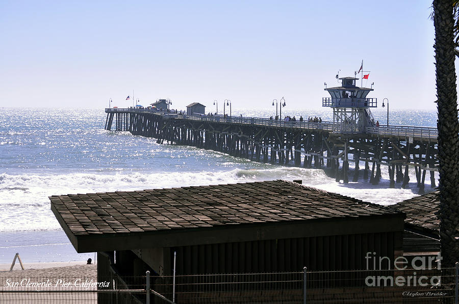 Clay Photograph - San Clemente Pier California by Clayton Bruster