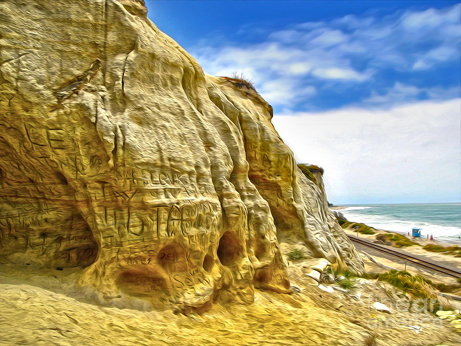 San Clemente Painting - San Clemente Skull Rock by Gregory Dyer