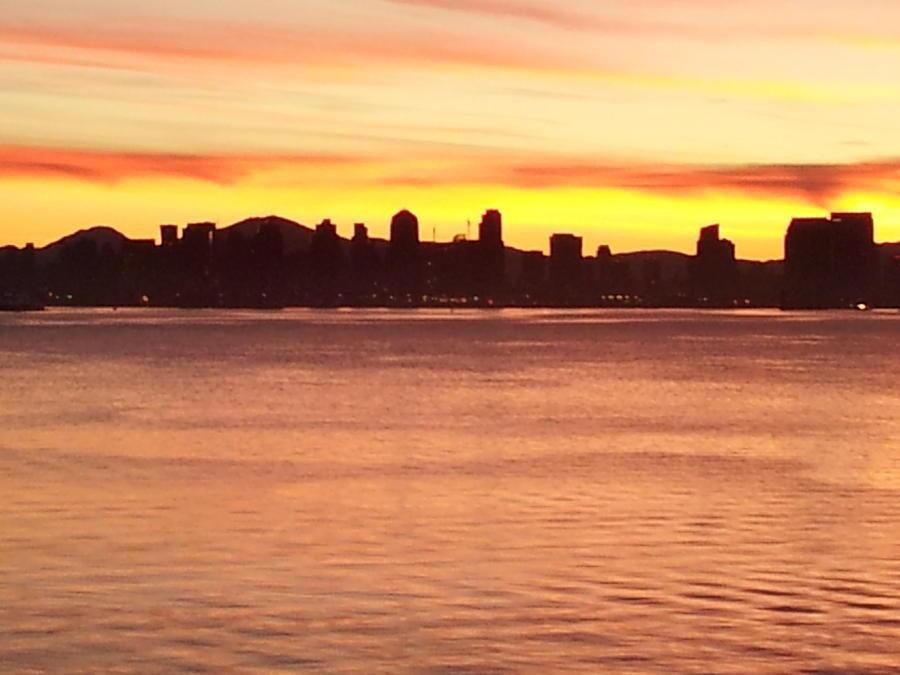 Landscape Photograph - San Diego City Scape Sunrise by Catherine Kurchinski