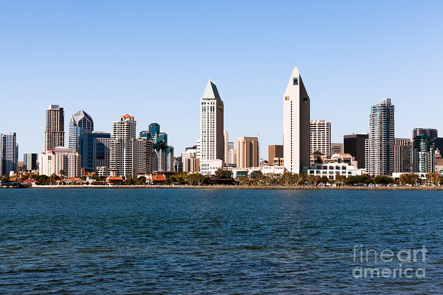 2012 Photograph - San Diego City Skyline by Paul Velgos
