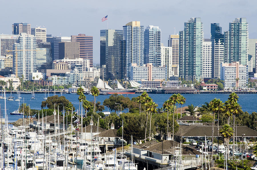 Landscape Photograph - San Diego Cityscape by MaryJane Armstrong