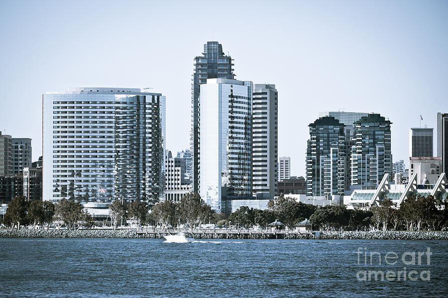2012 Photograph - San Diego Downtown Waterfront Buildings by Paul Velgos