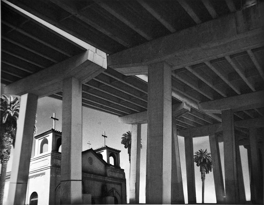 Architecture Photograph - San Diego Freeway by Larry Butterworth