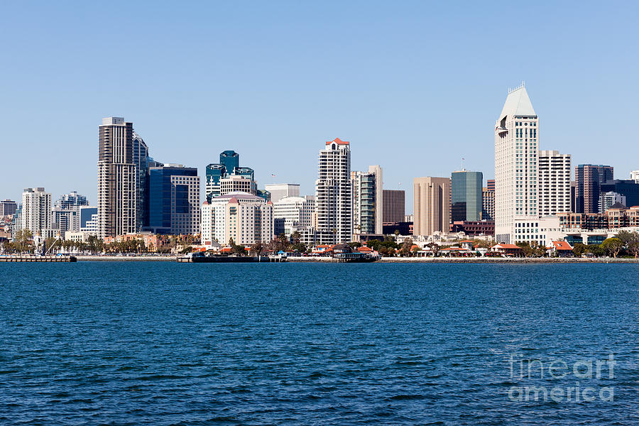 2012 Photograph - San Diego Skyline Buildings by Paul Velgos