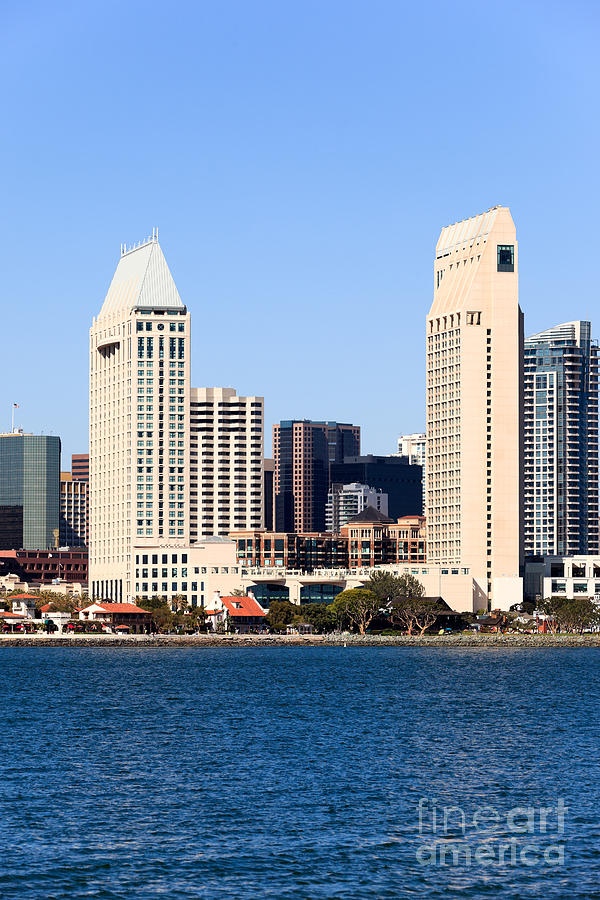 2012 Photograph - San Diego Skyscrapers by Paul Velgos