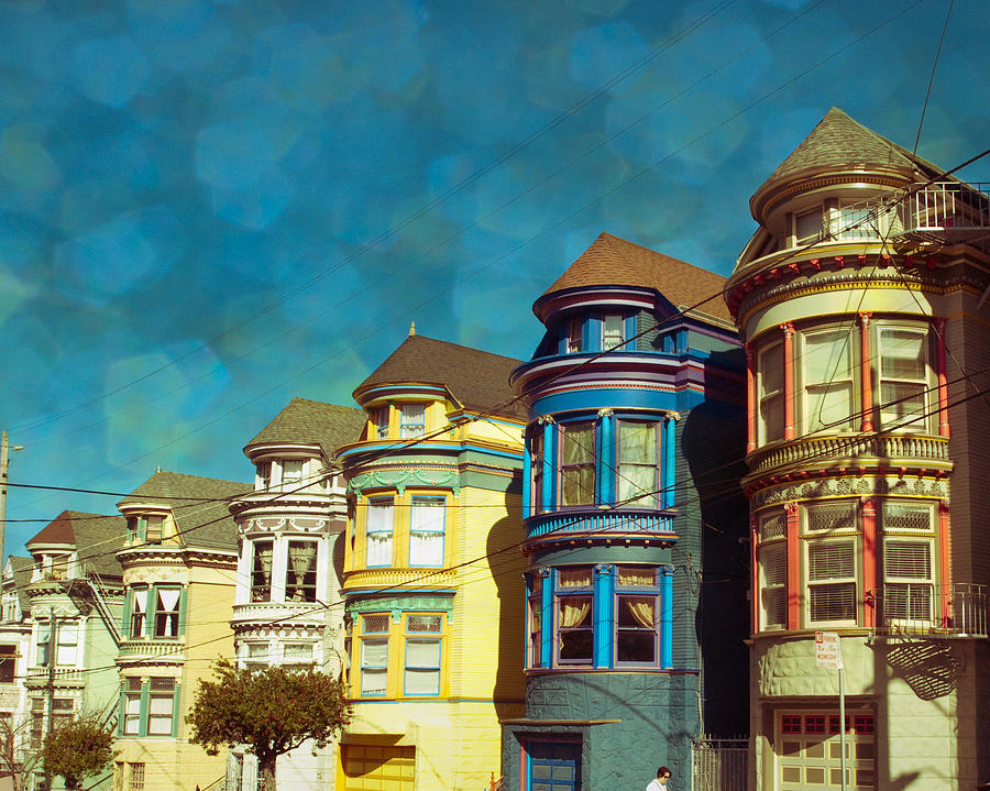 San Francisco Photograph - San Fran Row Houses by Sonja Quintero