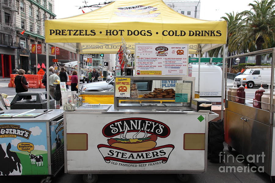 San Francisco Photograph - San Francisco - Stanleys Steamers Hot Dog Stand - 5d17929 by Wingsdomain Art and Photography