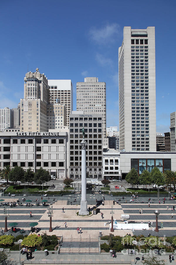 San Francisco Photograph - San Francisco - Union Square - 5d17941 by Wingsdomain Art and Photography